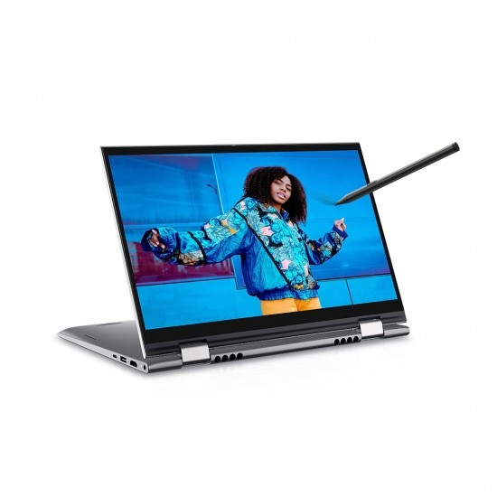 """Dell Inspiron 5410-D560466WIN9S 14"""" FHD Display 2in1 Touch Laptop (i3-1125G4 / 8GB / 512GB SSD / Integrated Graphics / Win 10 + MSO / Backlit KB with FPR + Active Pen / Silver Metal) D560466WIN9S"""